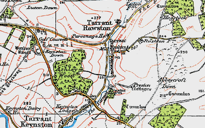 Old map of Ashley Wood in 1919