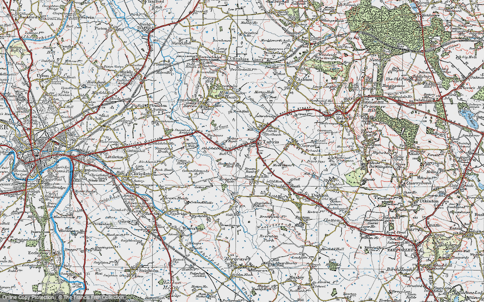 Old Map of Historic Map covering Abbeyfield in 1924