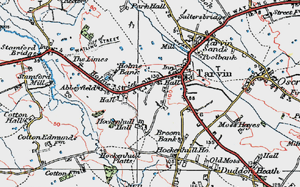 Old map of Abbeyfield in 1924