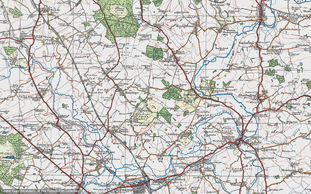 Old Map of Tathall End, 1919 in 1919