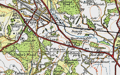 Old map of Tatling End in 1920