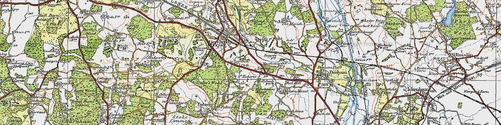 Old map of Alderbourne Manor in 1920