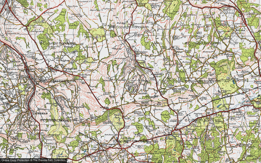 Old Map of Tatsfield, 1920 in 1920