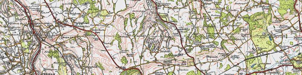 Old map of Tatsfield in 1920
