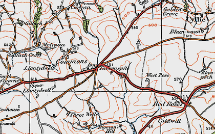 Old map of West Rose in 1922