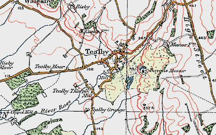 Old map of Tealby in 1923
