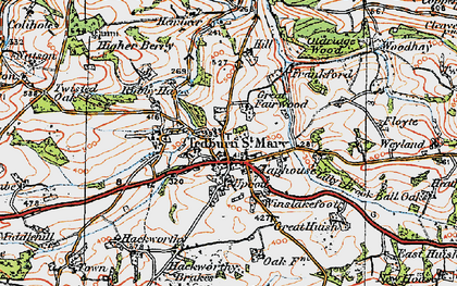 Old map of Frankford in 1919