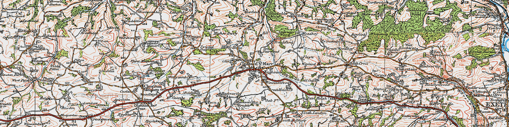 Old map of Winslakefoot in 1919