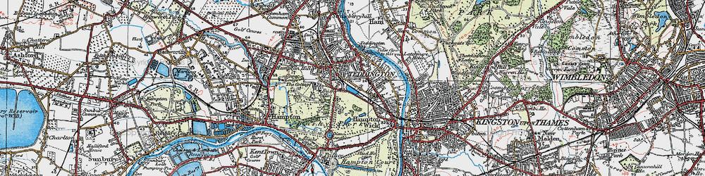 Old map of Teddington in 1920