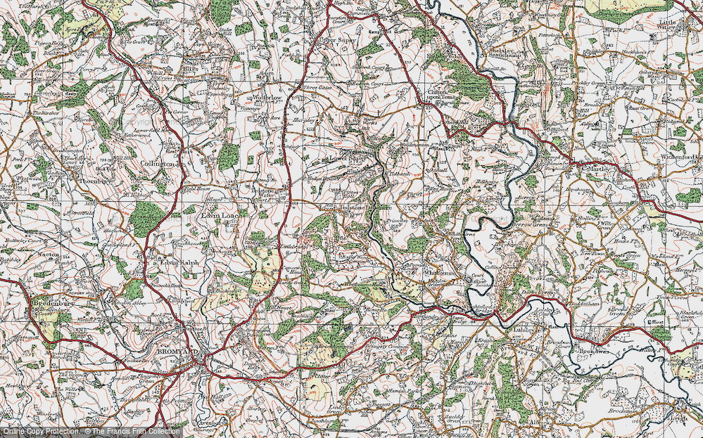 Old Map of Historic Map covering Tidbatch in 1920