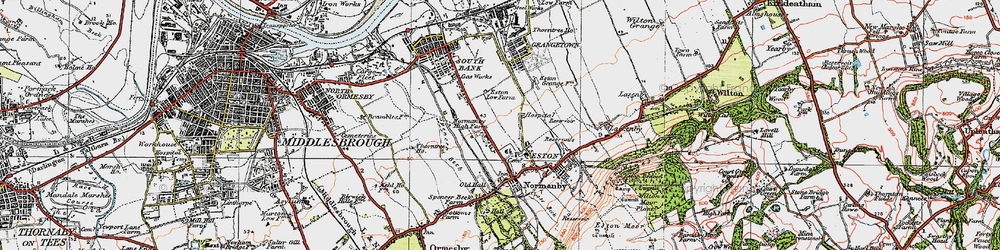 Old map of Teesville in 1925
