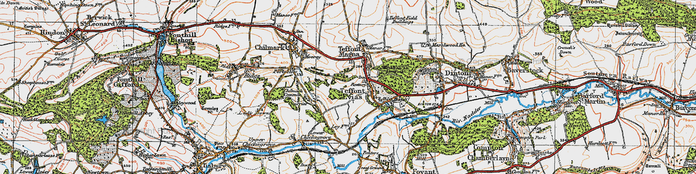 Old map of Wick Ball Camp in 1919