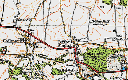 Old map of Teffont Magna in 1919