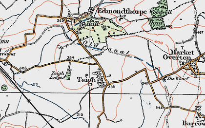 Old map of Woodwell Head in 1921