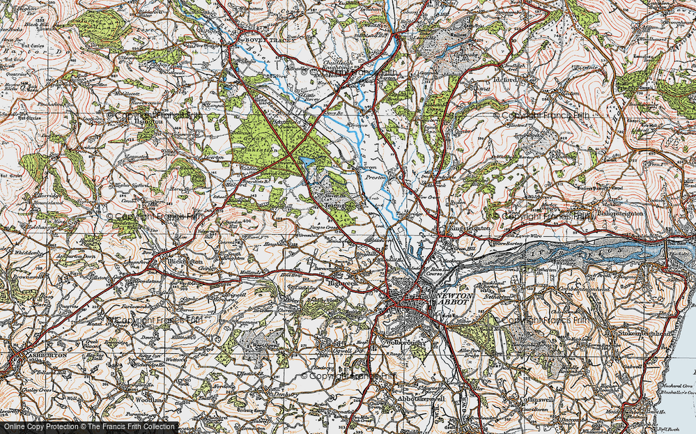 Old Map of Teigngrace, 1919 in 1919