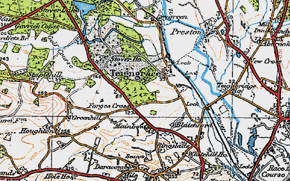 Old map of Leygreen in 1919