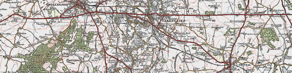 Old map of Telford in 1921