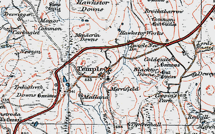 Old map of Temple in 1919