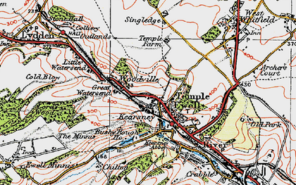 Old map of Woodville in 1920
