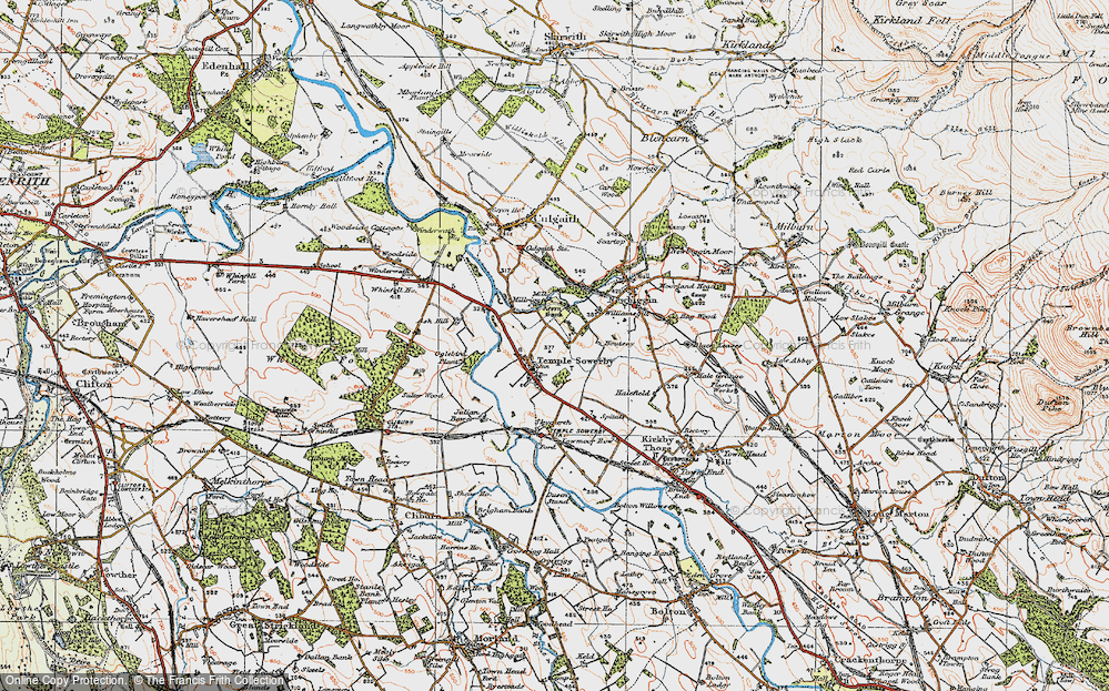 Old Map of Historic Map covering Ash Hill in 1925