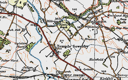 Old map of Acorn Bank in 1925