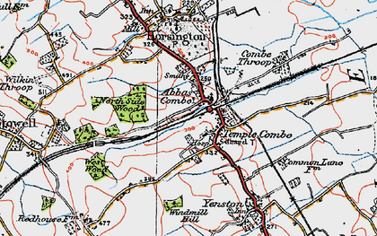 Old map of Templecombe in 1919