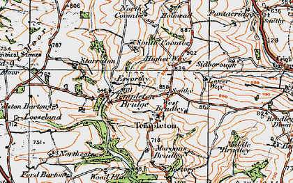 Old map of West Bradley in 1919