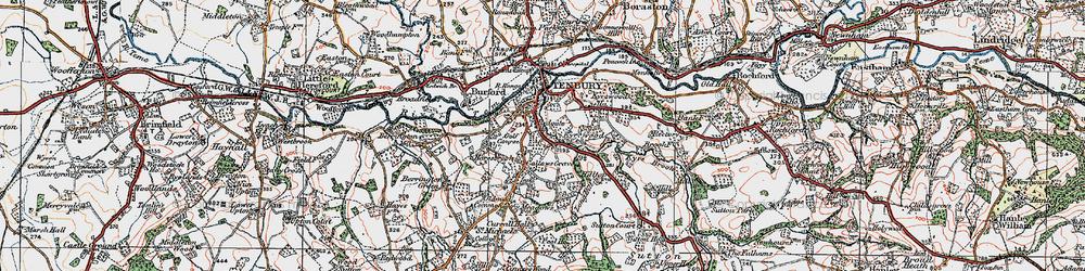 Old map of Tenbury Wells in 1920