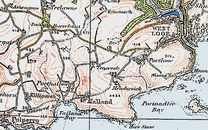 Old map of Tencreek in 1919