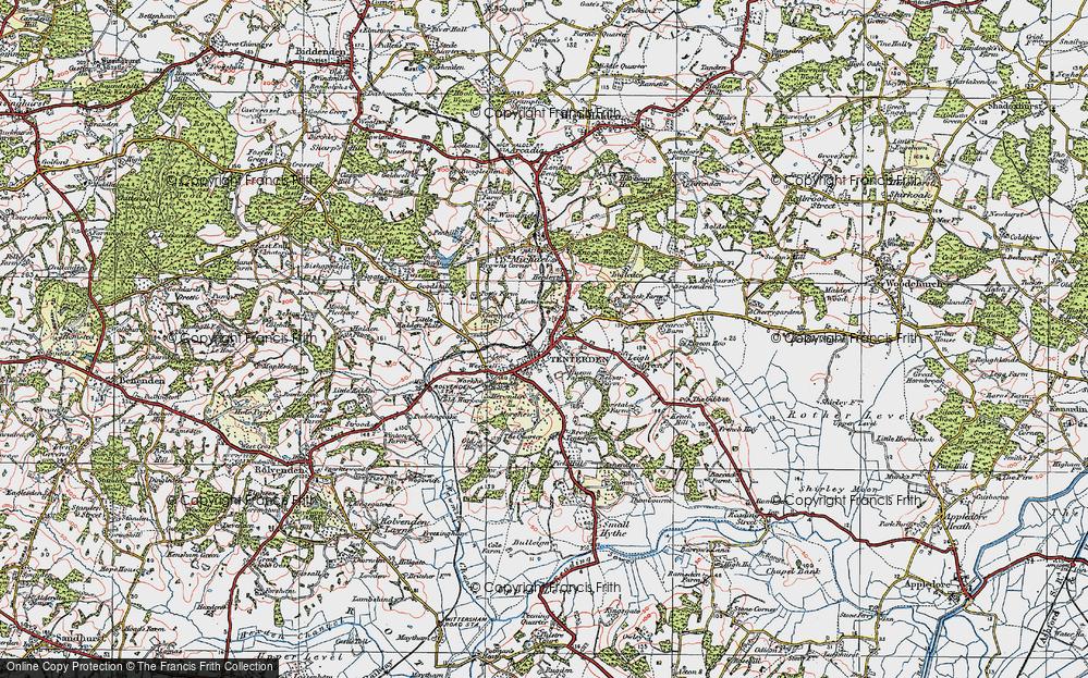 Old Map of Tenterden, 1921 in 1921