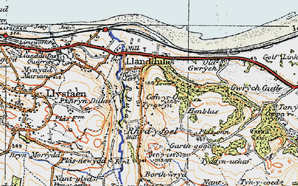 Old map of Abergele Roads in 1922