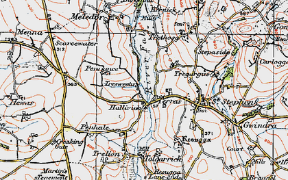 Old map of Terras in 1919