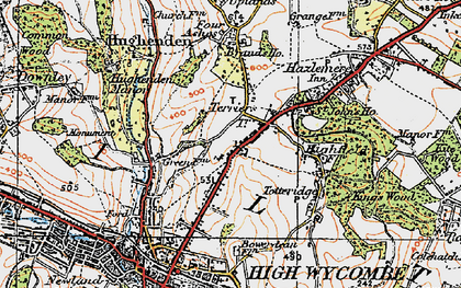 Old map of Terriers in 1919