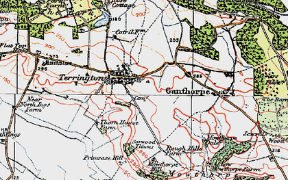 Old map of Terrington in 1924