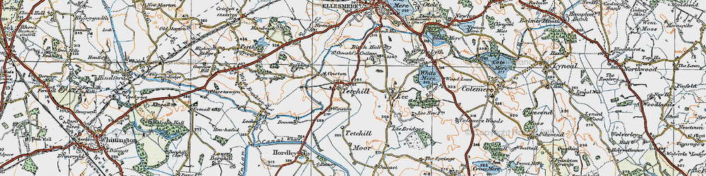Old map of Winston in 1921