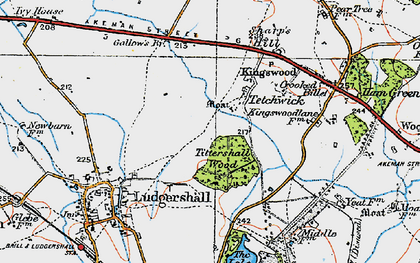 Old map of Tittershall Wood in 1919