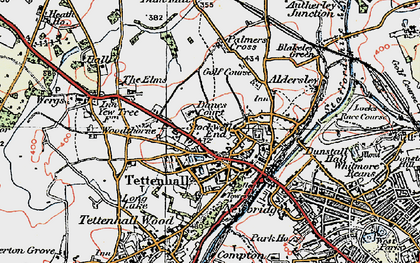 Old map of Tettenhall in 1921