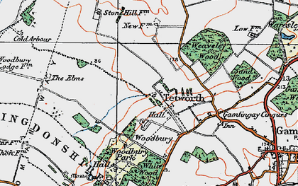 Old map of White Wood in 1919