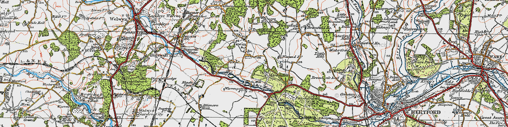 Old map of Westend in 1920