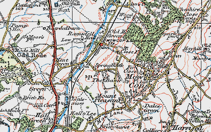 Old map of Ackers Crossing in 1923