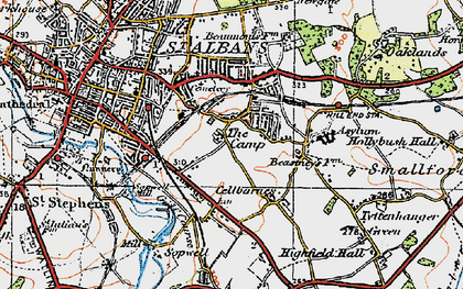 Old map of The Camp in 1920