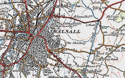 Old map of Wren's Nest in 1921
