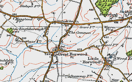Old map of The Common in 1919
