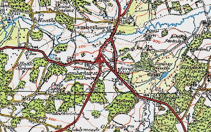 Old map of Wiskett's Wood in 1920