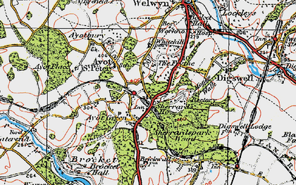 Old map of The Frythe in 1920