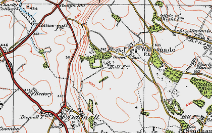 Old map of ZSL Whipsnade Zoo in 1920