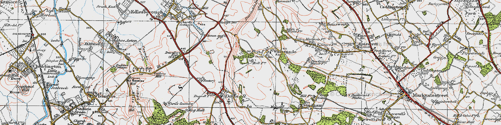 Old map of White Lion in 1920