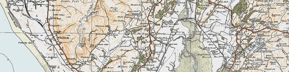 Old map of Whicham Mill in 1925