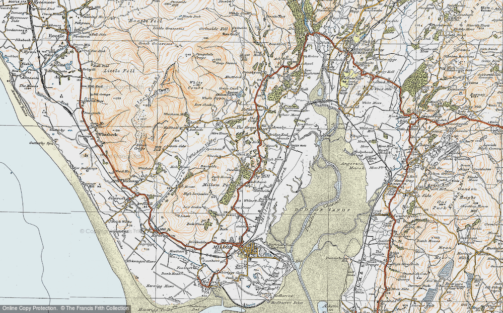 Old Map of Historic Map covering Woods in 1925