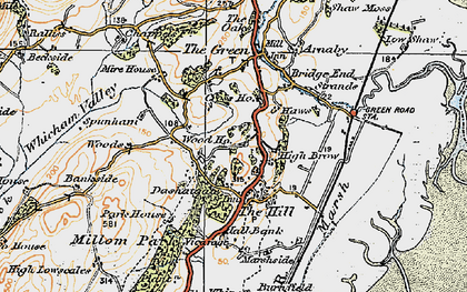Old map of Whicham Valley in 1925